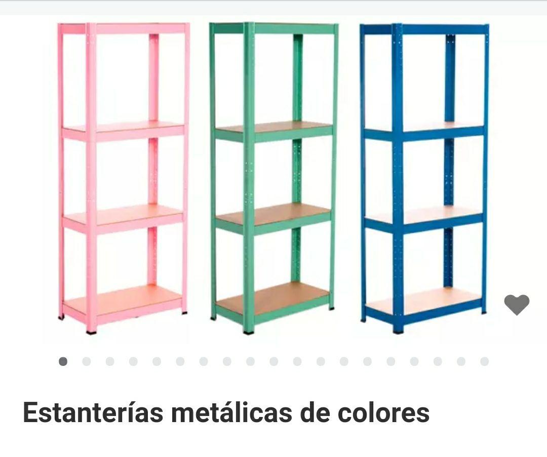 Estantería metálica en varios colores
