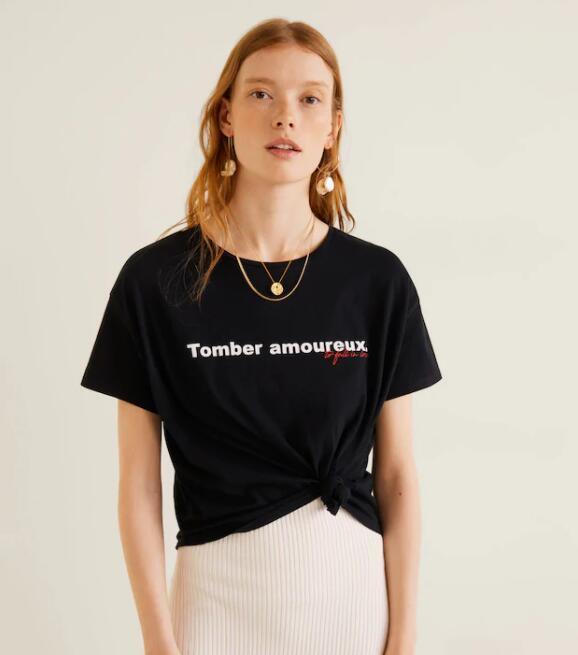 Camiseta estampada algodón a 1,99€ en Mango Outlet