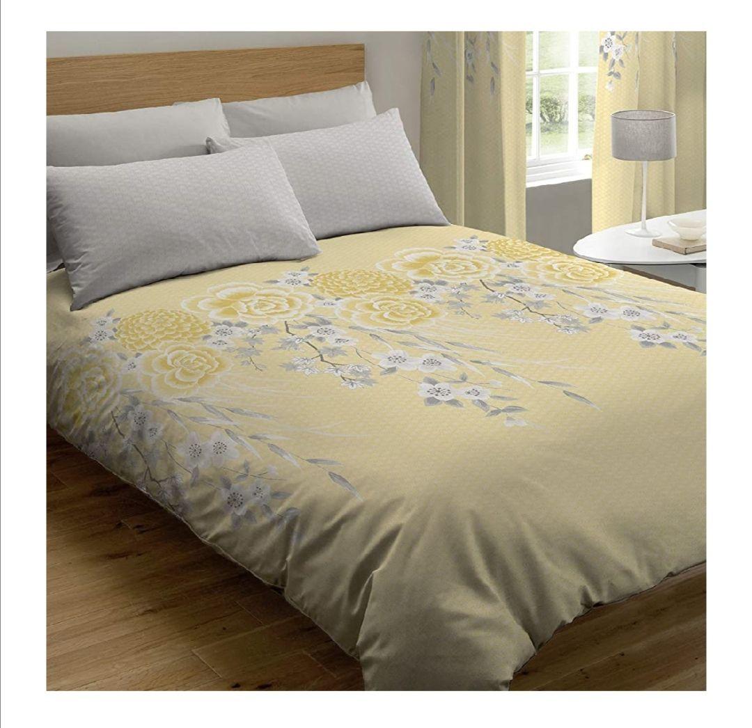 Marca: Catherine Lansfield 4,0 de Catherine Lansfield Oriental Blossom Nórdica + Funda de Almohada Cama 105 cm, 100% algodón