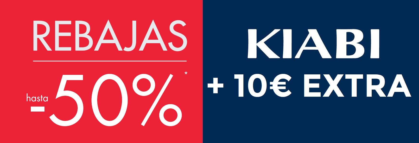 Hasta 50% + 10€ EXTRA en Kiabi