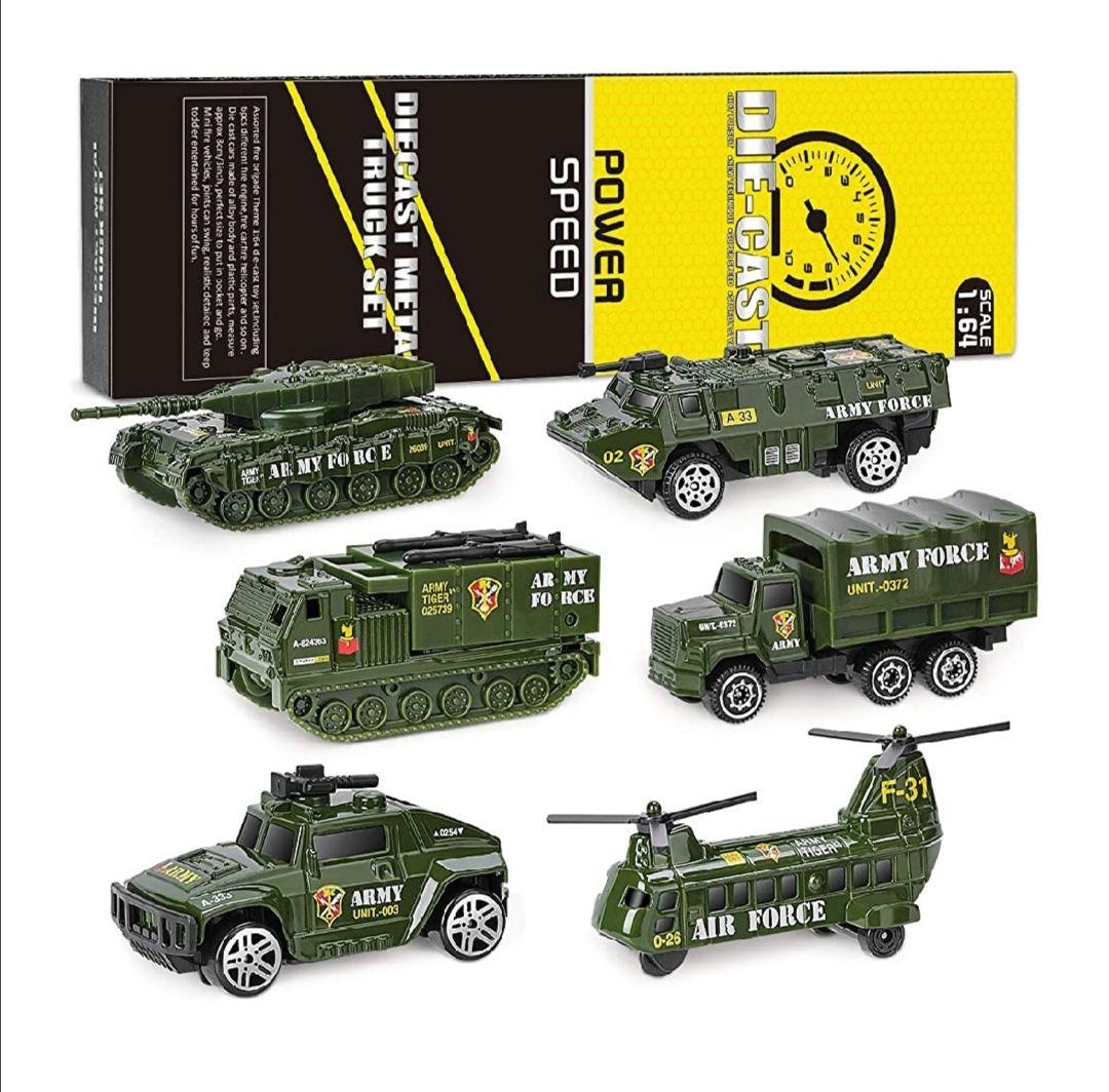 XDDIAS Vehículo Militar Juguete, 6 Pcs Mini para Niños