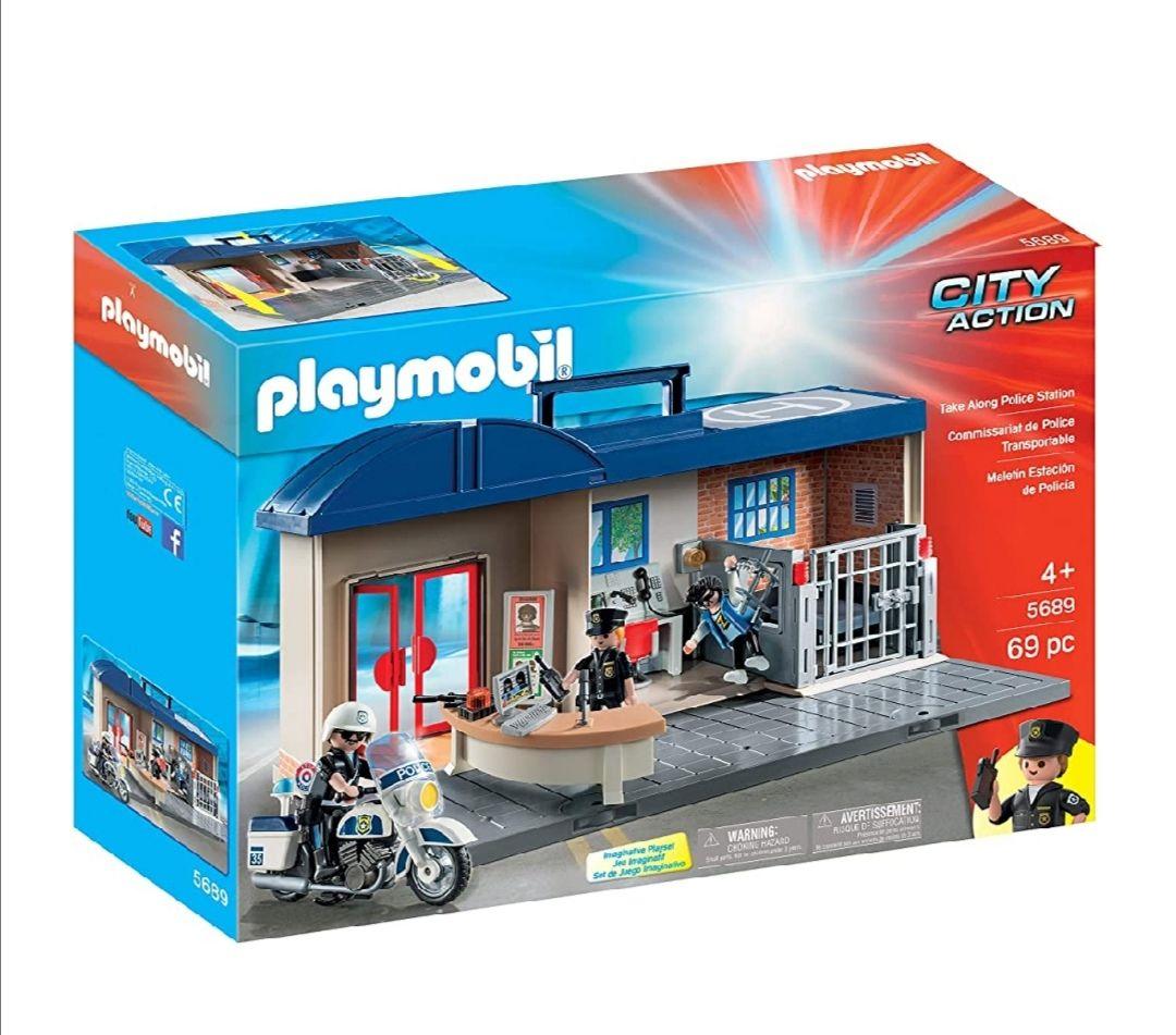 PLAYMOBIL- Comisaría Maletín Juguete, Multicolor, única (geobra Brandstätter 5689)