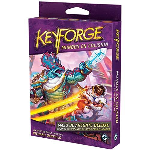 Keyforge · Baraja Mundos en colisión DELUXE