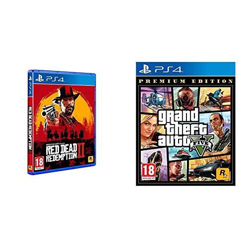 Pack de Red Dead Redemption 2 y GTA V Premium Edition (PS4)