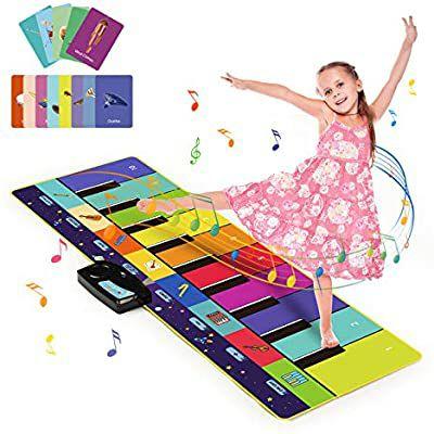 Alfombra Musical de Piano con 100+ Sonidos, Alfombra de Baile 4 Modos, Alfombra de Teclado