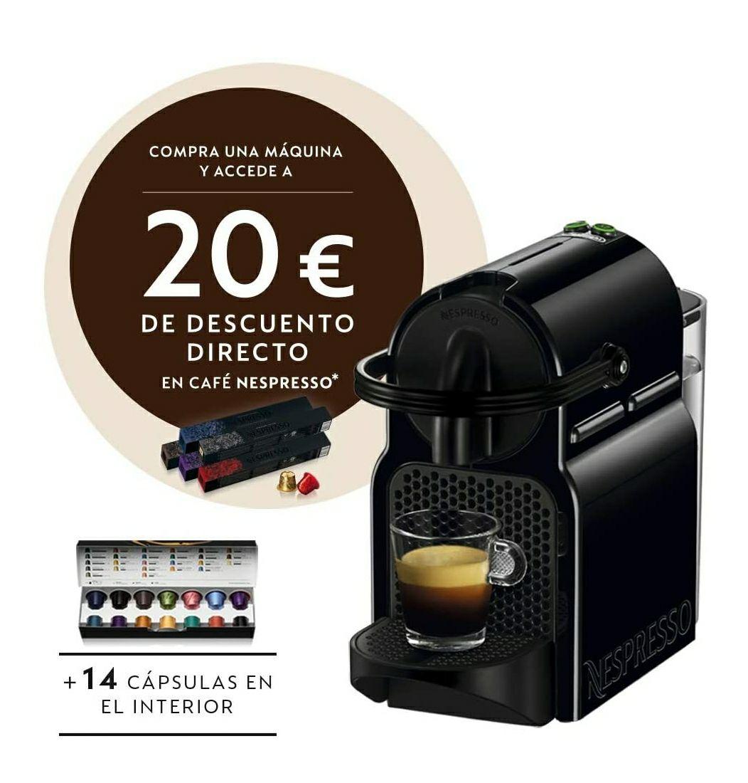 Cafetera Nespresso De'Longhi Inissia (20€ descuento en cápsulas café)