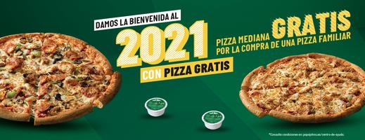 3X1 - 2 Pizza Medianas GRATIS, por comprar 1 familiar (Pizza)