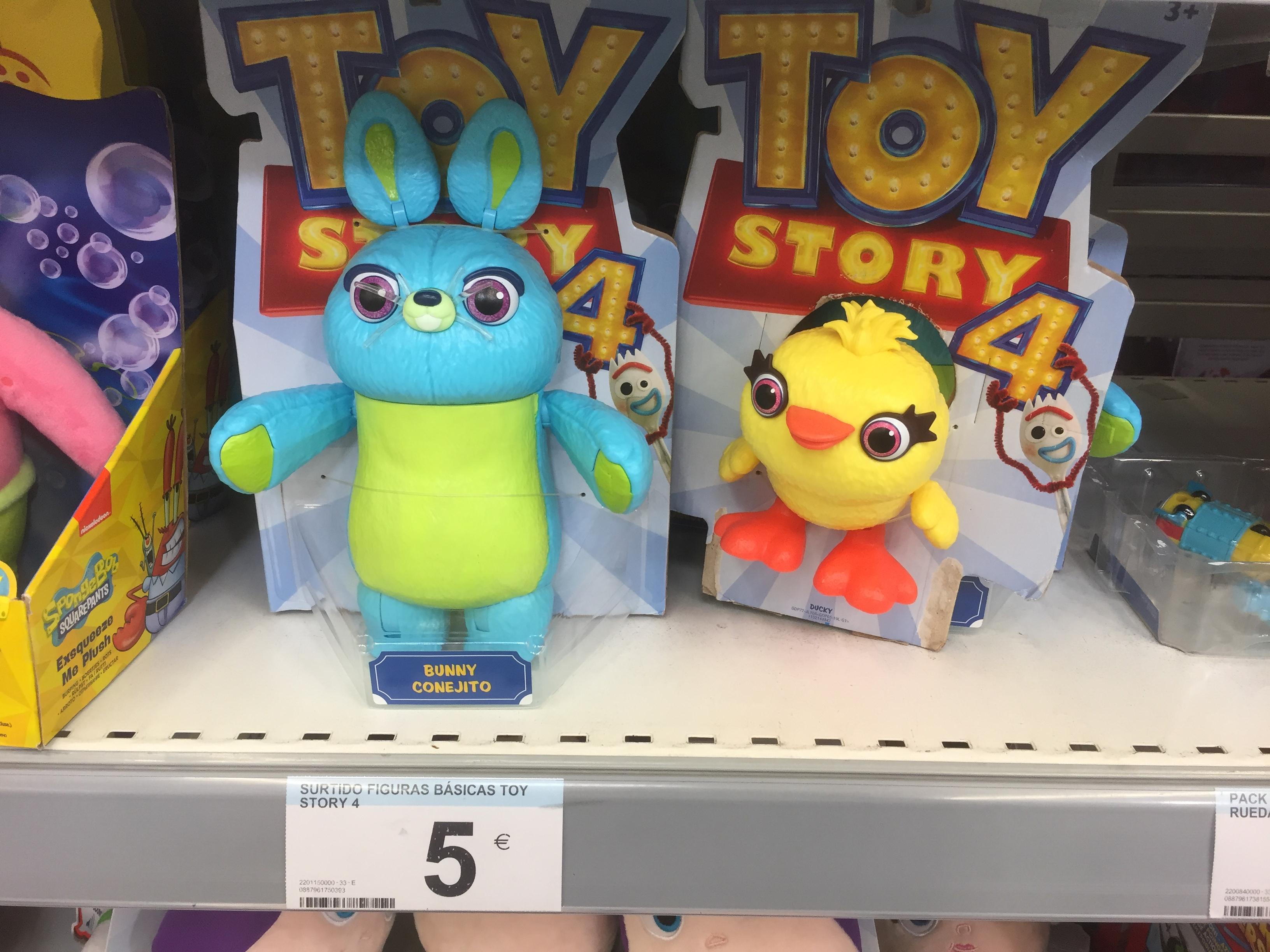 Toy Story 4 , figuras básicas 5€