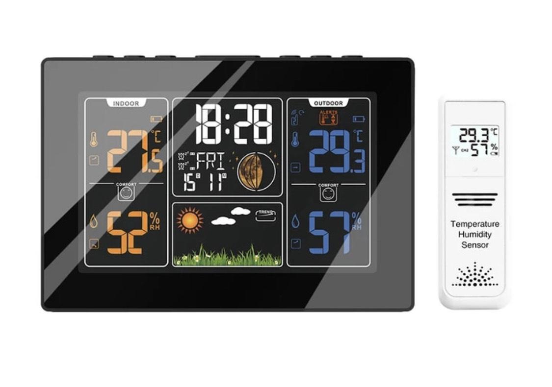 Estación Meteorológica PROTMEX PT201C con Sensor de termómetro higrómetro