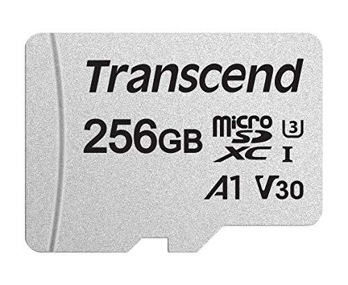 Transcend MicroSD de 256GB con adaptador SD,