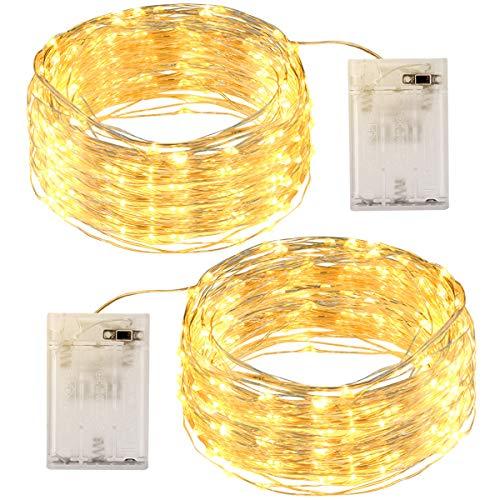 2 Packs de Guirnaldas de Luces 12M 120 LED, OMERIL