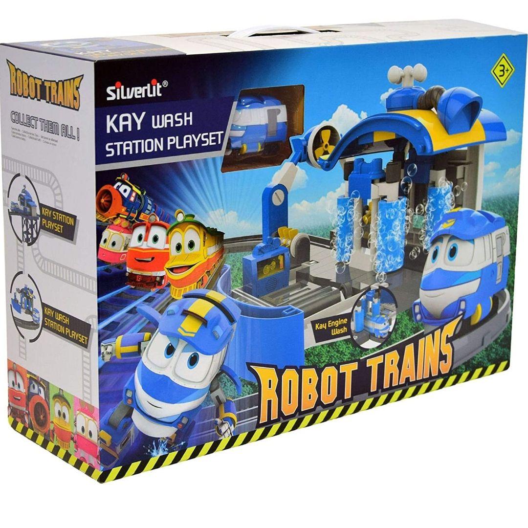 Robot Trenes 80171–Estación de Lavado de Kay 123cm + Tren Kay incluida