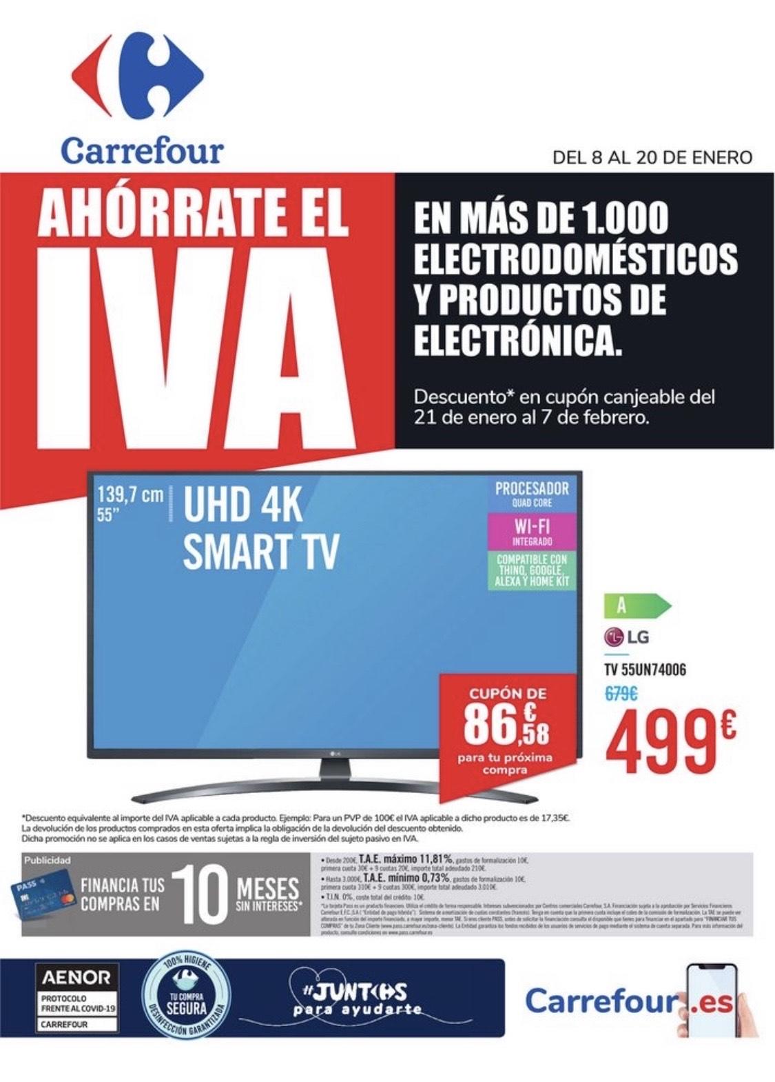 Ahórrate el IVA en electrodomésticos y electrónica - Carrefour