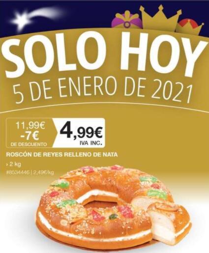 Roscón de Reyes 2kg Costco socios. Sólo hoy
