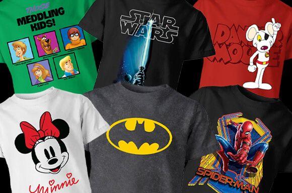 Pack de 3 camisetas para niños o niñas por 16,99