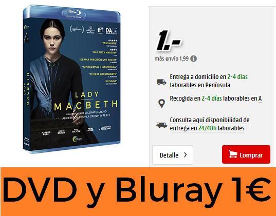 DVDs y Blurays por 1€