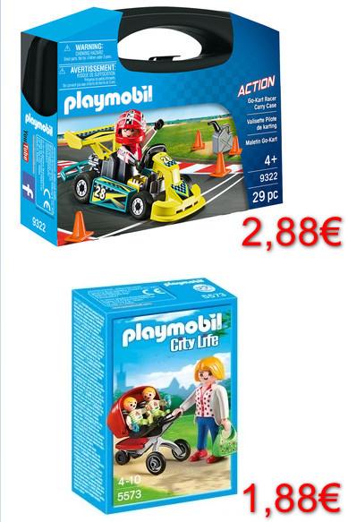 Alcampo Alcobendas: Playmobil Mamá con carrito por 1,88€ y Maletín Go Kart por 2,88€