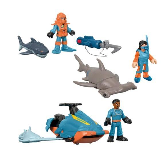 Fisher-Price pack de figuras de buceo con tiburones