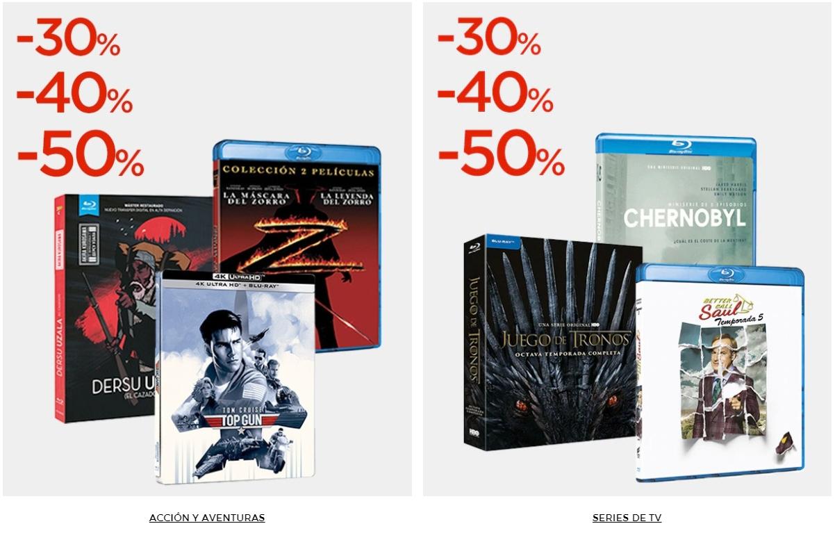 Oferta cinéfilos 30% 40% o 50% comprando hasta cinco unidades