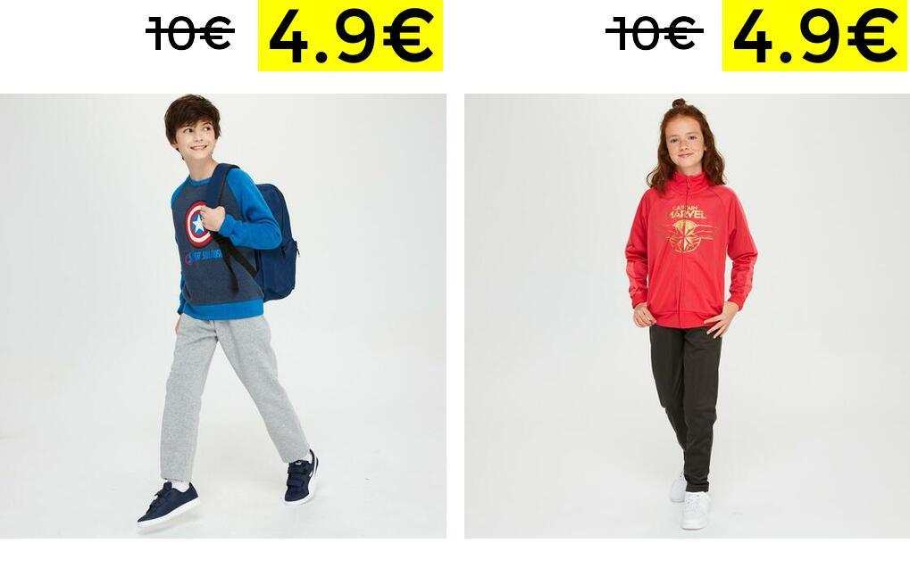 Chándal niñ@s licencia Marvel solo 4.9€