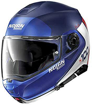 Nolan N100-5 P - Casco para moto M FLAT IMPERATOR BLUE Talla M