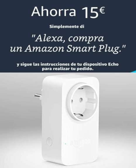 Smart plug amazon por solo 9,99€ si se pide desde un echo nuevo activado RECIENTE!