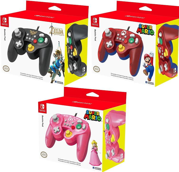 Mando Hori Battle Pad Zelda , Mario o Peach para tu Nintendo Switch por 15,95€