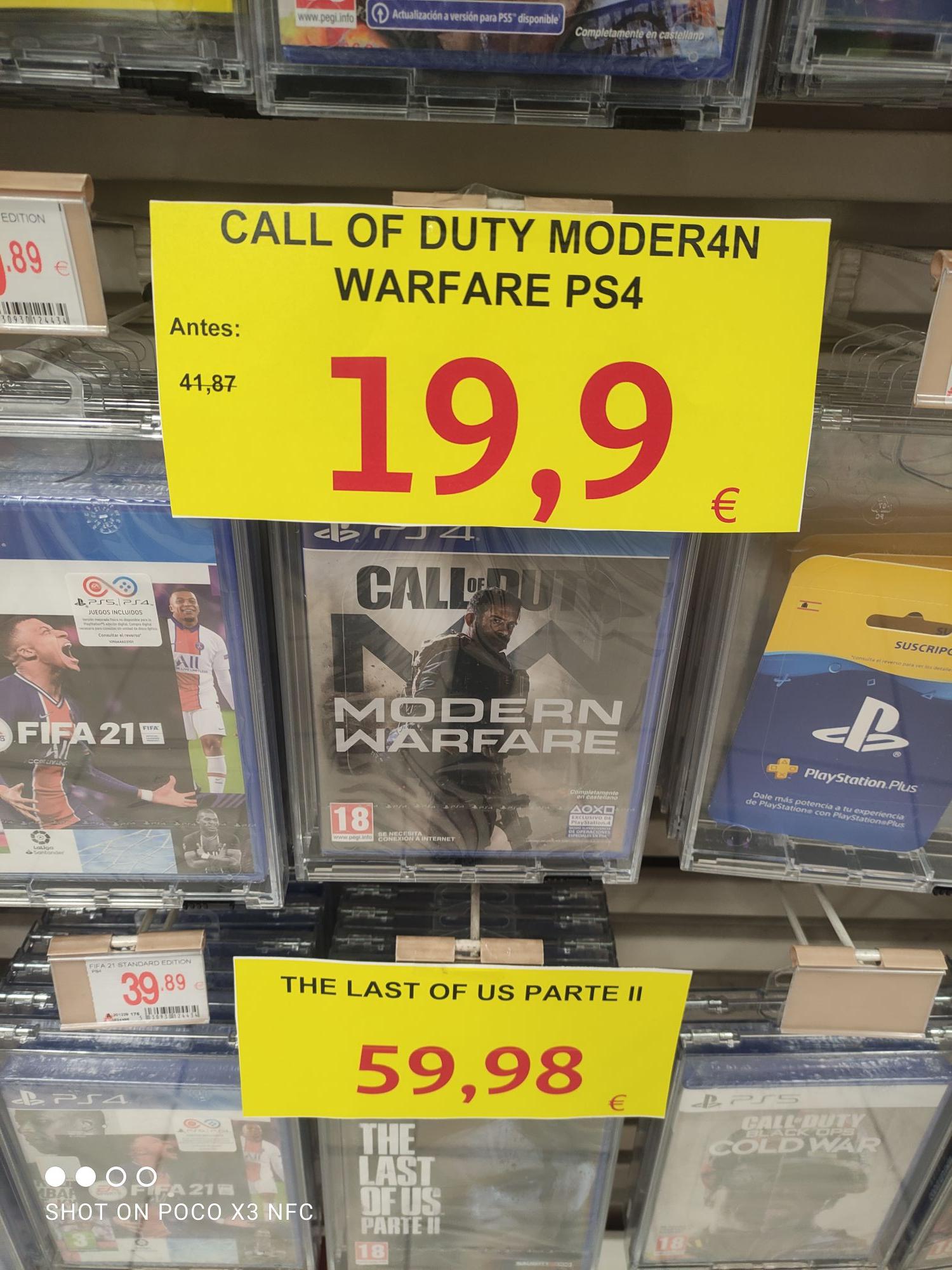 Call of duty modern warfare PS4 Alcampo de santiago de compostela