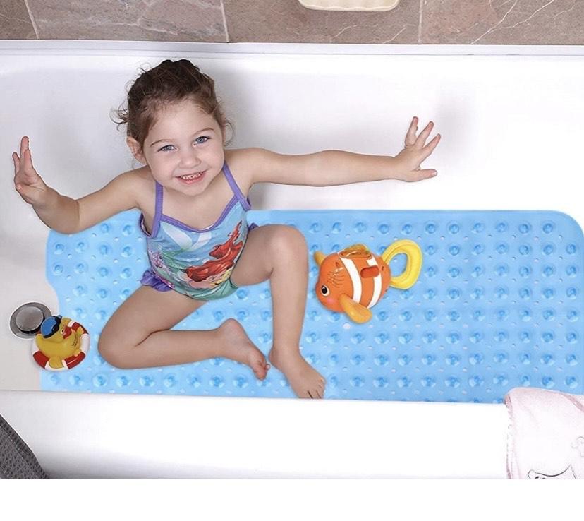 Alfombrilla Antideslizante para bañera, Azul, 100 * 40cm