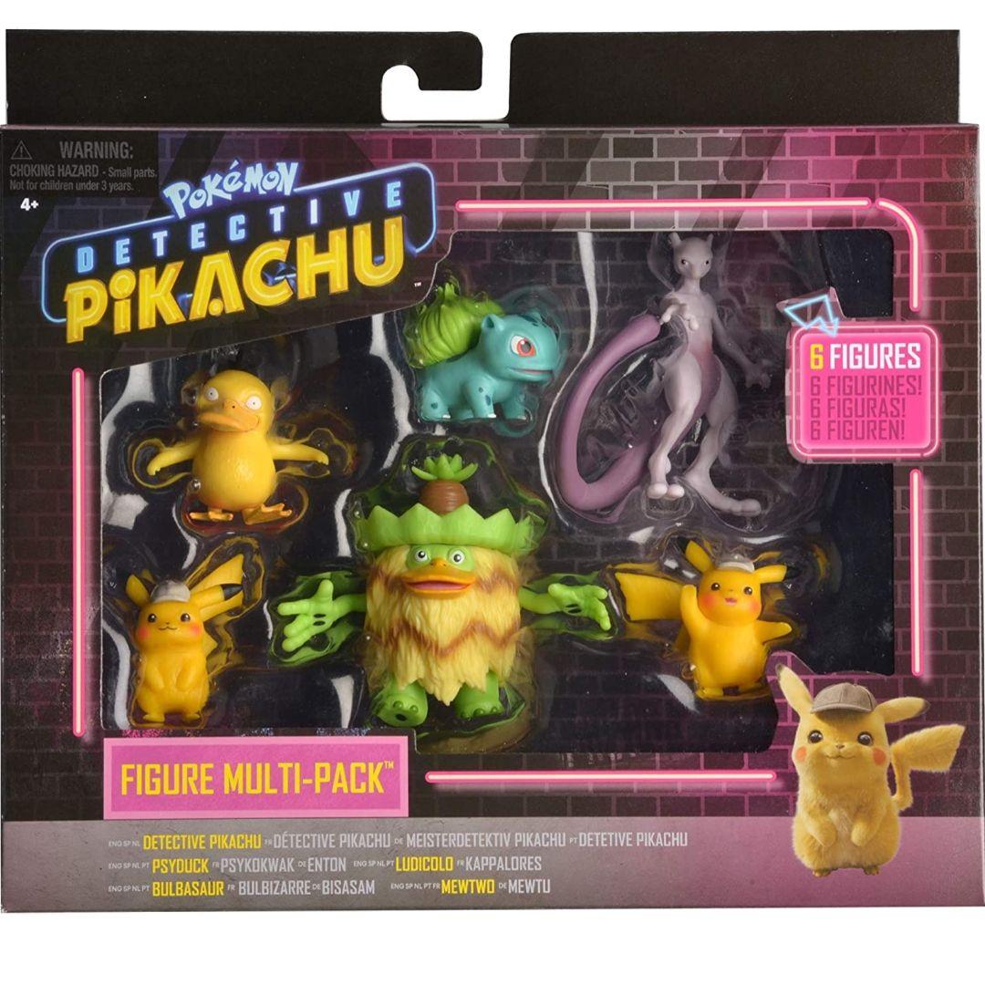 Pokemon Pack de 6 Figuras Detective Pikachu (BIZAK