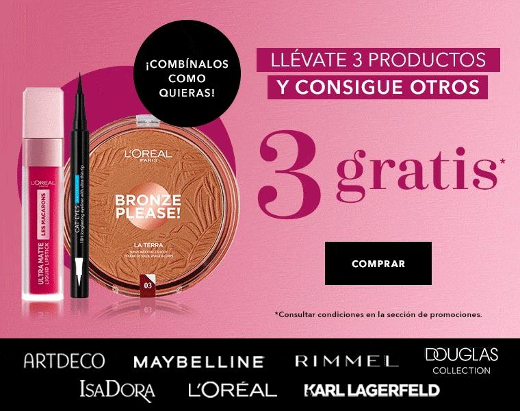 Maquillaje 3+3 gratuitos