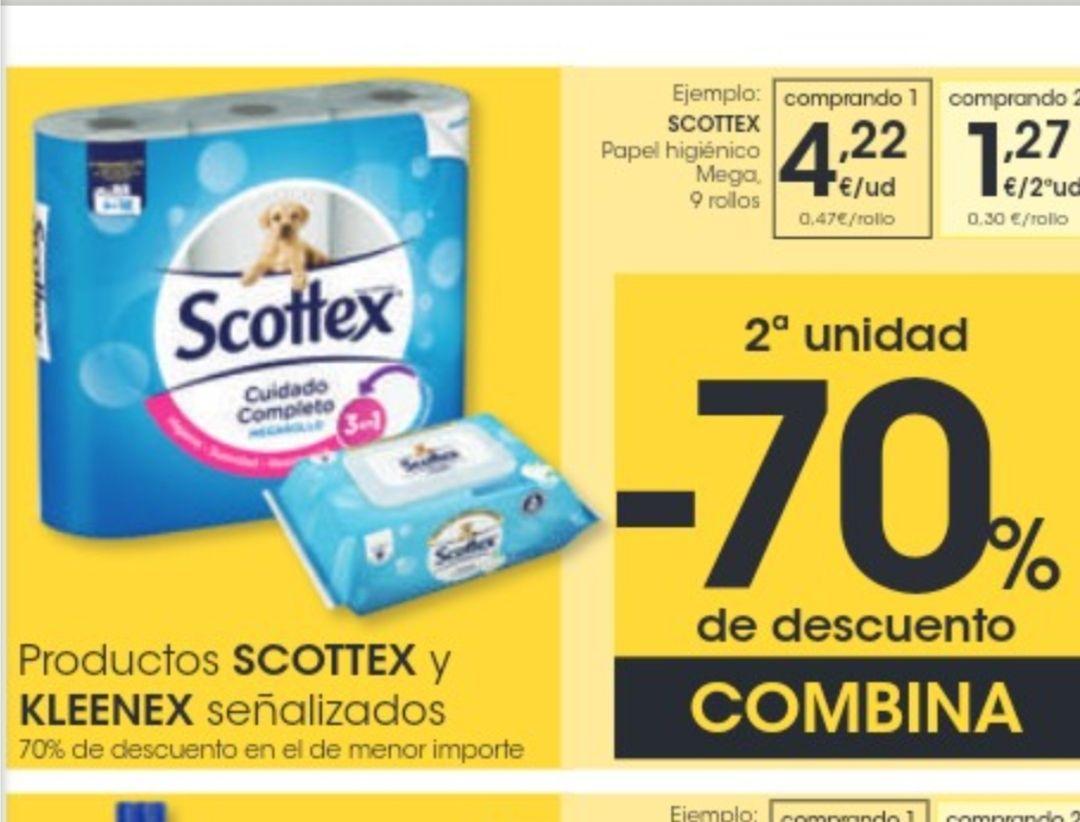 Papel scottex megarrollo 0.30 cts/rollo