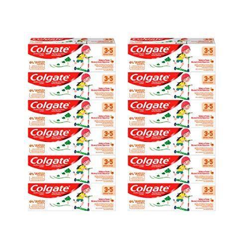 Pack 12 uds x 50ml Pasta de dientes Colgate Niños 3-5 años anticaries