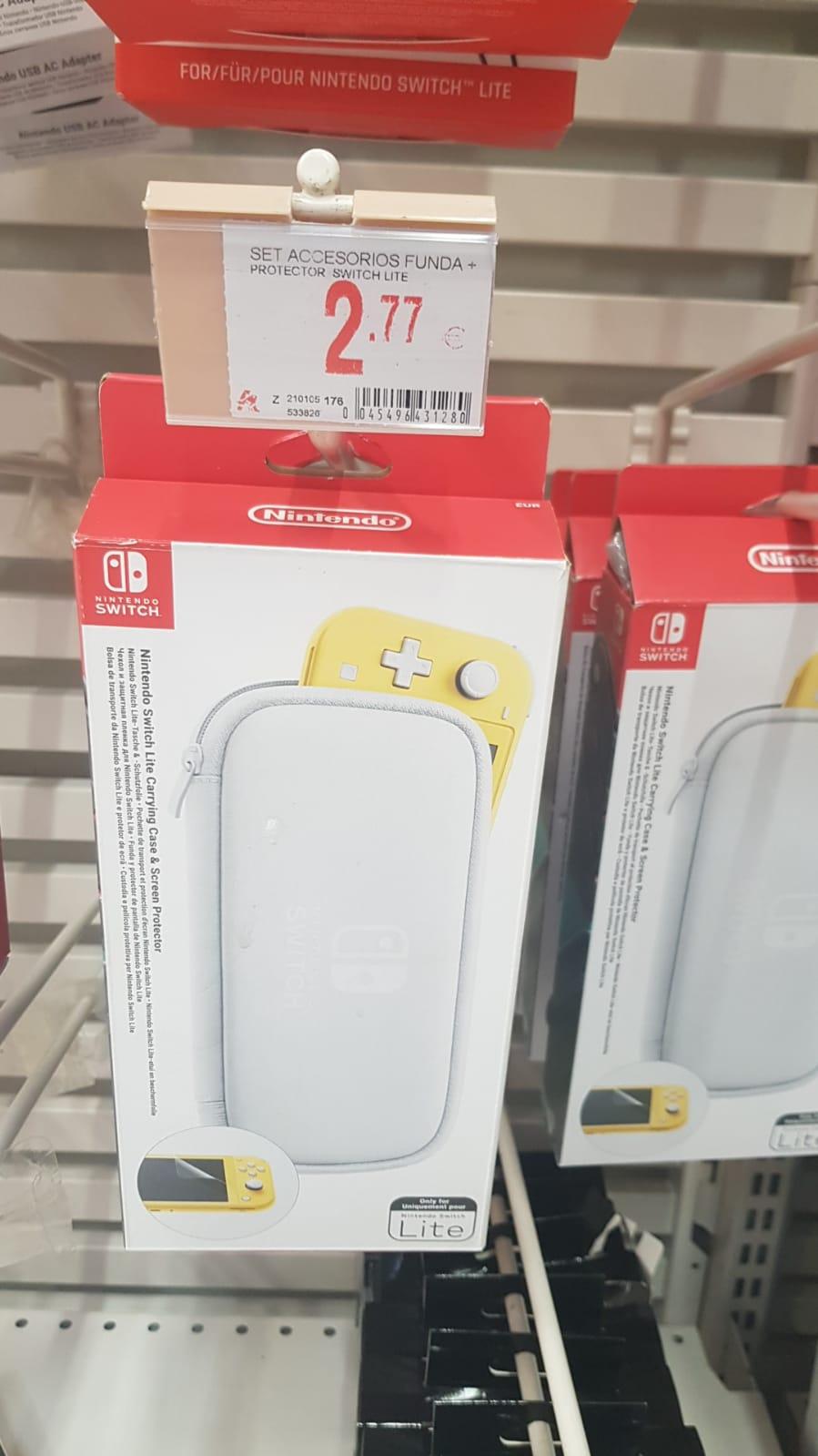 Funda y protector Nintendo Switch Lite en Alcampo Motril