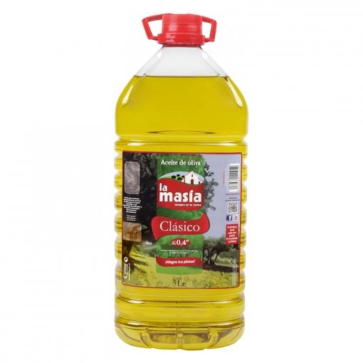 LA MASÍA Aceite de oliva suave 0,4º garrafa 5 l.