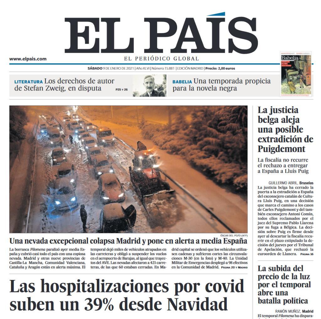 Periódico El PAÍS de hoy gratis