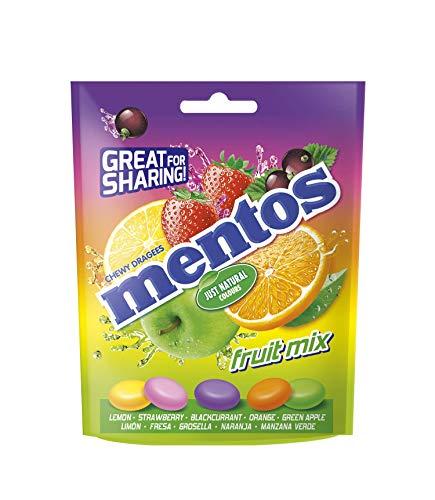 Mentos Mix, caramelos masticables con zumo de frutas, 7 x 160g