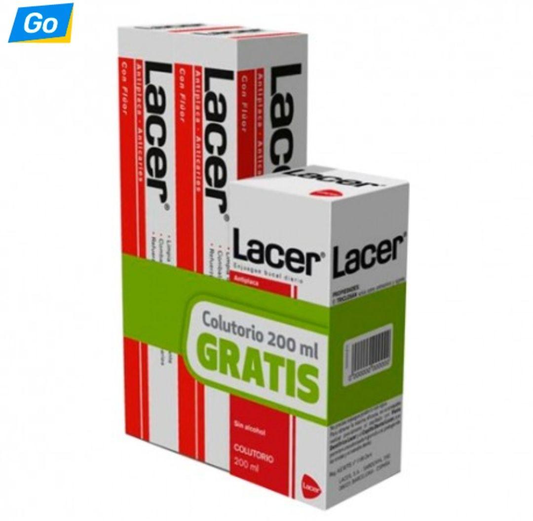 Lacer Pasta Dental Duplo 2x125ml + Colutorio 200ml
