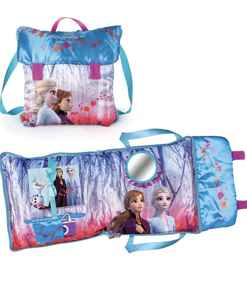 Mochila Frozen Incluye pulsera espejo iluminado, aux para música, cuaderno y bolígrafo