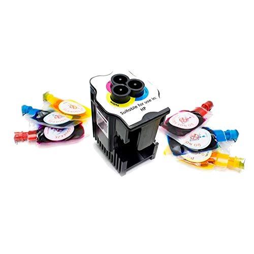 Kit de Recarga para Impresoras Incluye 1 Estación de Recarga + 6 Recargas de Color