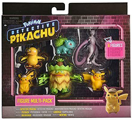Pack de 6 figuras Detective Pikachu. Bizak