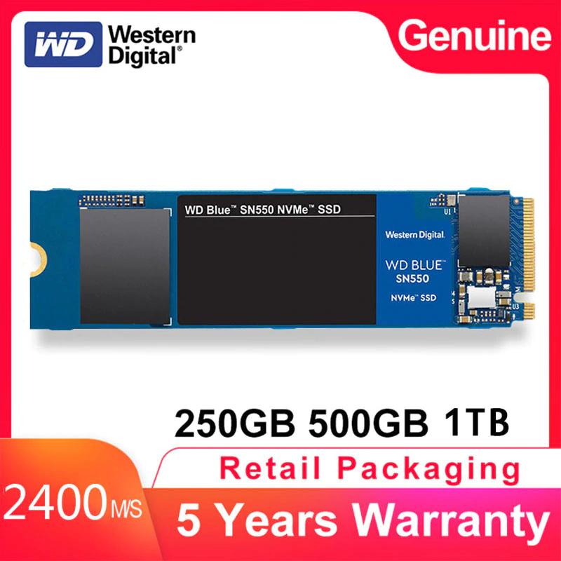 Western Digital nvme SSD SN550 500gb 2400mb/s