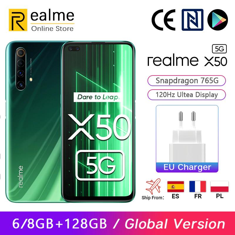 Realme X50 X 50 5G Smartphone 8GB 128GB Snapdragon 765G