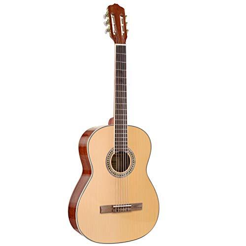 MARTISAN Guitarra Clásica 4/4 de abeto sólido parte superior sapeli para la parte posterior y lateral y caoba para el mástil