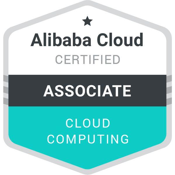 Certificado oficial de Alibaba Cloud, temas como Big Data, Seguridad, Cloud y otros