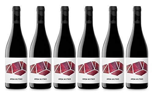6 botellas de Aroa Mutiko, vino Tinto ecológico, de 0,75L unidad