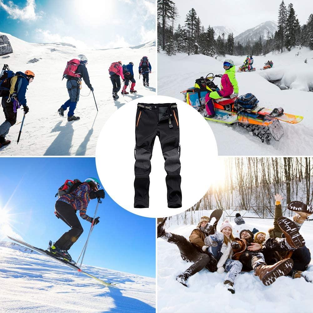 Pantalones Térmicos Impermeable para Invierno Esquí Senderismo Montaña