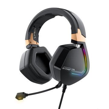 BlitzWolf® BW-GH2 Auriculares Gaming 7.1 Canales 53 mm Controlador Auriculares Gaming RGB con Cable USB con Micrófono para PC/PS3/4