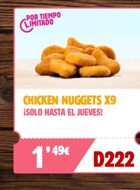 9 chicken nuggets a 1,49€