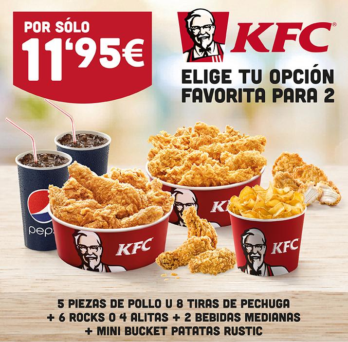 Menú para 2 en KFC por 11,95€